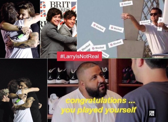 LarryIsNotReal One Direction fans AT WAR over Harry Styles & Louis Tomlinson!0