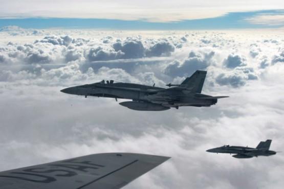 La Force opérationnelle aérienne en Irak compte sur six avions de chasse CF-18 Hornet (photo), un aéronef de ravitaillement et deux aéronefs de patrouille. PHOTO ARCHIVES LA PRESSE CANADIENNE